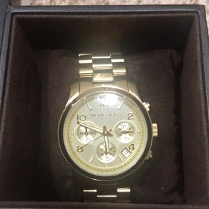 Michael Kors gold coronagraph watch NIB